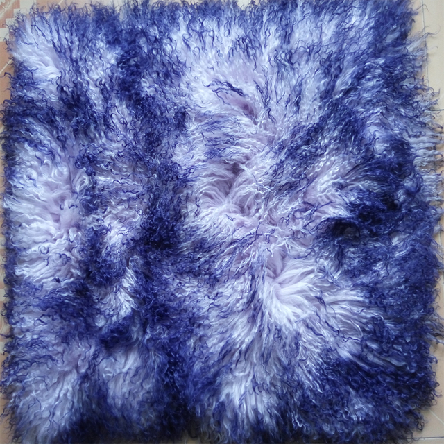 2018 Two Zone Mongolian Fur Pillow Cover Vintage Cushion Covers For Sofa Fur Cushion Cover Decorative Pillows For Sofa Chair