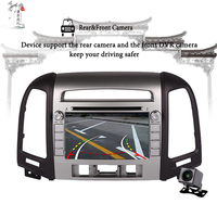 Octa Core Android 9.0 Car DVD for Hyundai Santa Fe 2007 2010 2012 Radio Navi gps player 64GB+4GB 3/4G SIM Tape Recorder PC