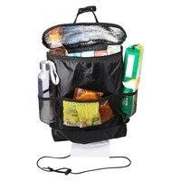 Aluminum Foil Hanging Bag Seat Back Drinks Cooler Organizer Car Auto Storage Bag Oxford Functional Holder