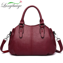 2019 Vintage Hand Bag Ladies Sac A Main Female Leather Top-h