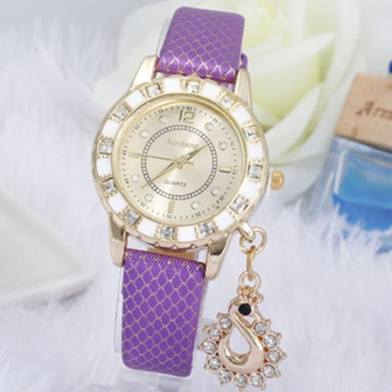 New  womens watches Hot Relogio Feminino casual dress leather wrist strap quartz movement popular