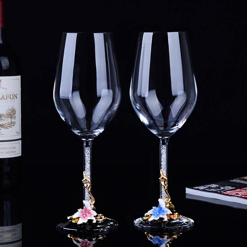Creative Lead free Crystal Premium Red Wine Glass Large Goblet Wine Cup Wedding Gift Set Bar Party Family Drinkware in Wine Glasses from Home Garden