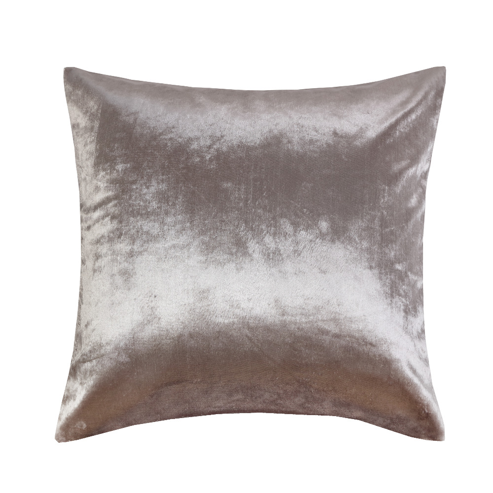 shinny silver velvet wholesales pillow cushion ivory grey red cushion cover home decorative 45x45cm50