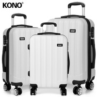 KONO Rolling Hand Luggage Suitcase Travel Bags Carry On Trolley Case 4 Wheels Spinner Hardside ABS 20 24 28 Inch Set K1773L