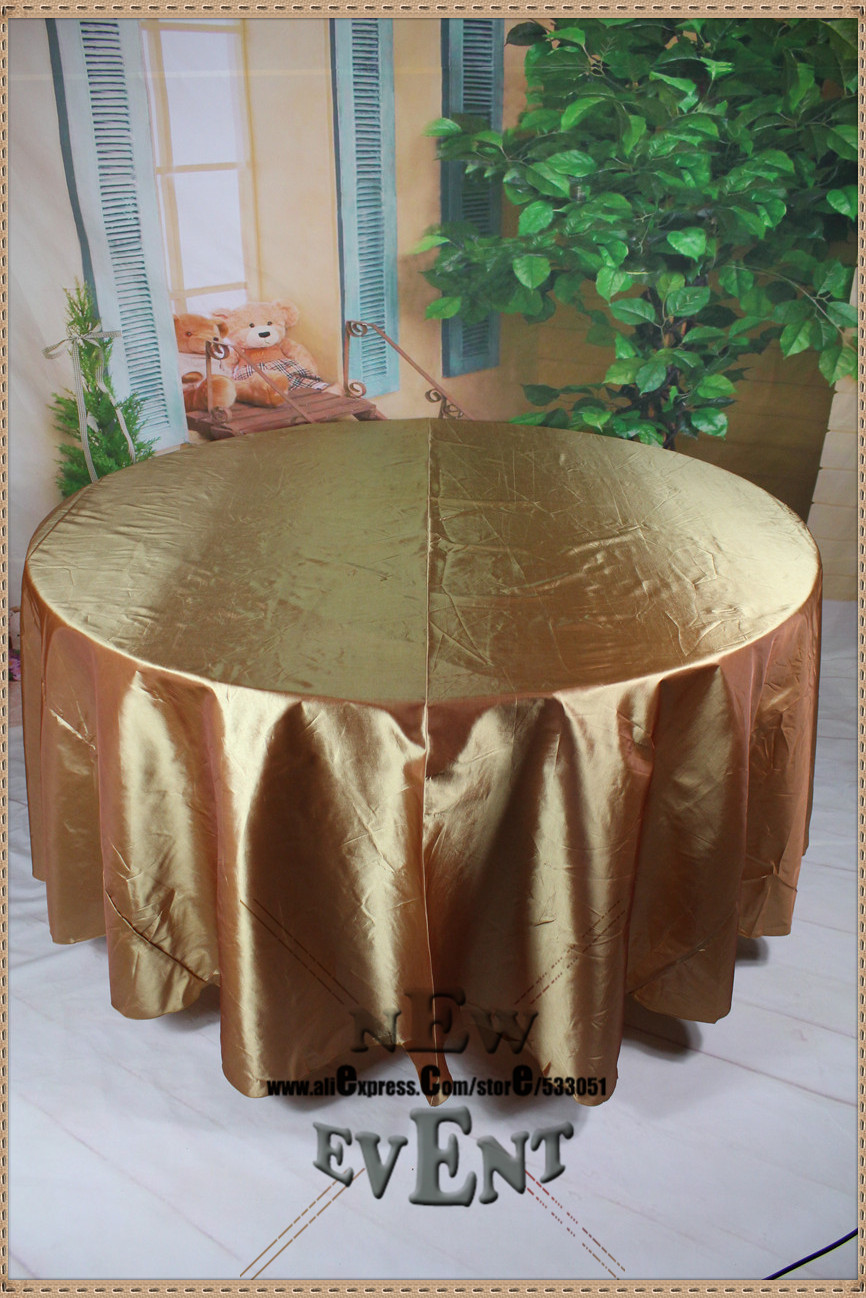 96 inch round tablecloth - 90 108 128 No 96 Color Taffate Tablecloth Table Cover For Wedding Party Hotel Banquet Decorations Wedding Supplies