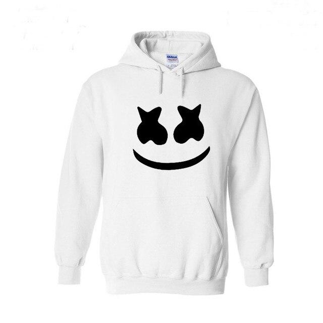 Marshmello Smiley Face Con Cappuccio Da Uomo Hip Hop Moda Streetwear Felpe  Con Cappuccio Bianco XS 2ff77c23bd5