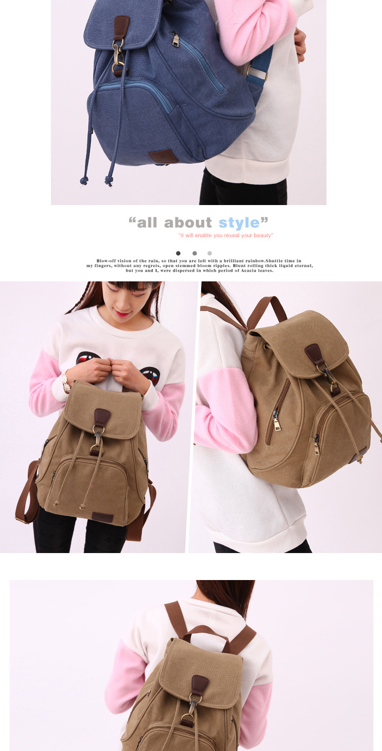 Chuwanglin Female women canvas backpack preppy style school Lady girl student school laptop bag mochila bolsas ZDD6294