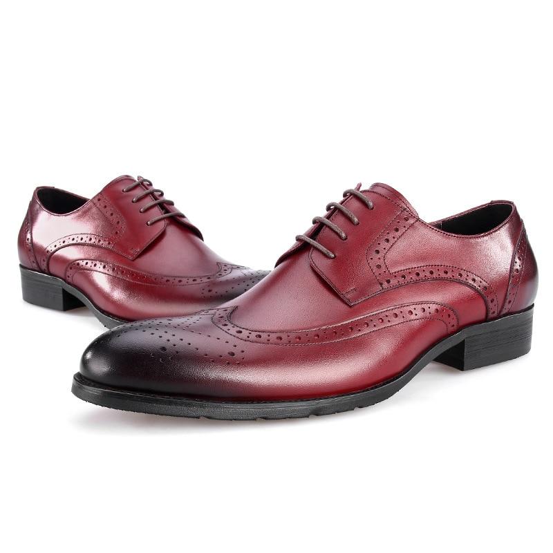 Black Vestido Negócios Tamanho Eur45 brown marrom Baile Tan Masculinos Grande Genuínos brown Brogue Sapatos Couro marrom De Preto fZfPzq