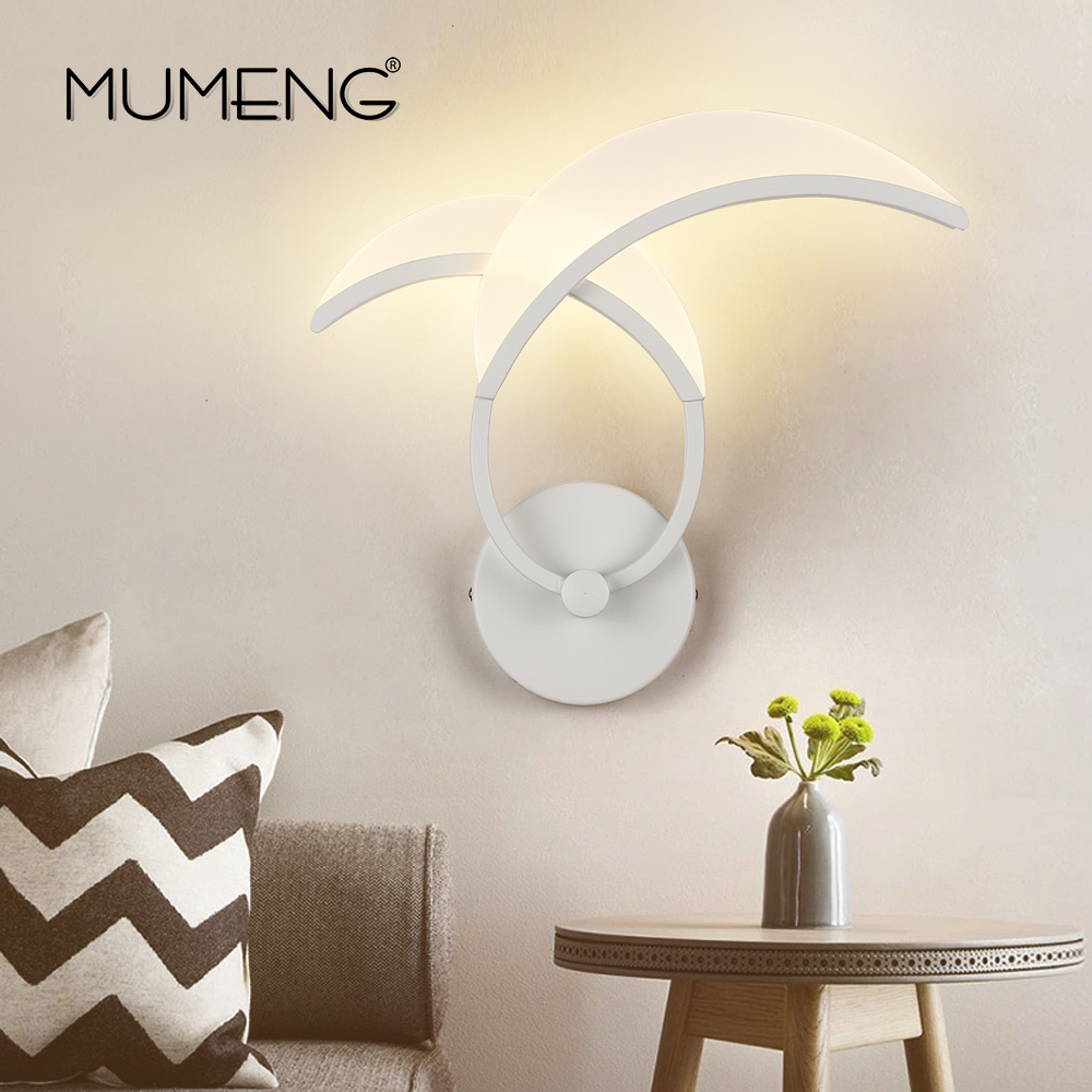 MUMENG Modern Acrylic LED Wall Lamp Simple Wall Sconce AC220V 9W Living Room Bedroom Beside Wall Mounted Home Lights Fixture led wall lights acrylic modern living room bedroom home decoration wall lamp for bedside bedroom restroom wall mounted wall lamp