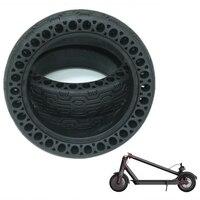 Pneu de scooter atualizado durável anti explosão pneu sem câmara oca roda de pneu sólido para xiao mi jia mi pro m365 scooter elétrico Peças e acessórios p/ scooter     -