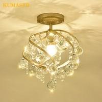 Crystal Ceiling Lamp Entrance Corridor Bar Luz de techo Kitchen Ceiling Light American Style Cristal Light Fixture