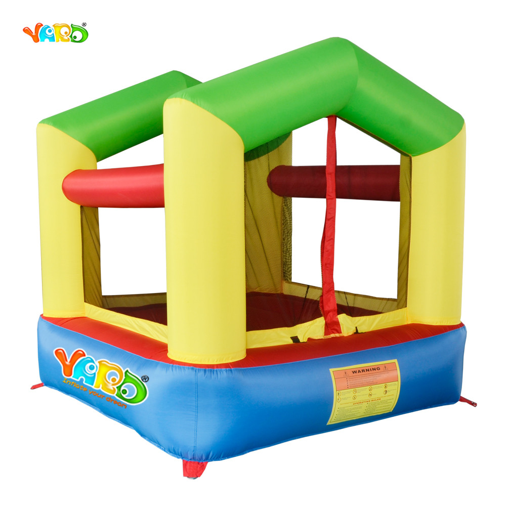YARD Nylon Mini Bouncy Castle Inflatable Bounce House Trampoline Home Use Inflatable Bouncer Jumping Bouncer for Kids yard bouncy castle inflatable jumping castles trampoline for children bounce house inflatable bouncer smooth slide with blower