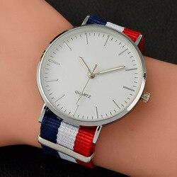 2019 neue Casual und Mode Quarzuhr mit Multicolor Nylon Tuch Armband Armbanduhr Einfache Designer Frauen Uhr Orologio