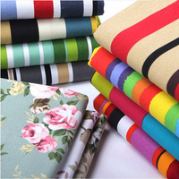 Width 1 5m Length 1m Colored Canvas Floral Fabric Sofa Cover Cloth Cotton Stripe Curtain The