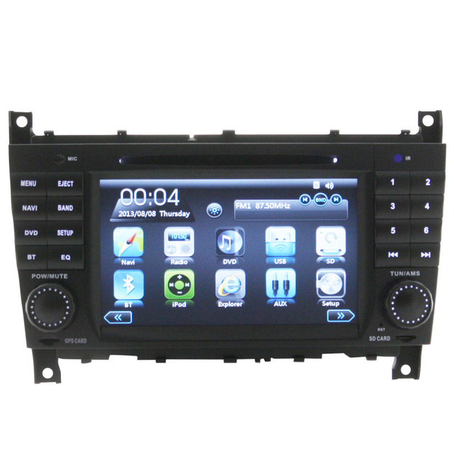 Top Auto Car Gps Bluetooth Para Mercedes W203 (2004-2007) con 3G de Pantalla Táctil Cámara Trasera Del Coche Dvd Ipod SWC Canbus Usb