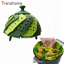 Silicone Retractable Folding Steamer Rack Folding Fruit Tray Dessert Candy Plate Cooking Tools Kitchen Accessories