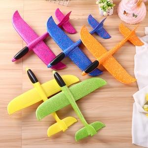 Image 3 - 2019 diy crianças brinquedos mão jogar voando planador aviões espuma avião modelo festa saco enchimentos voando planador avião brinquedos para jogos