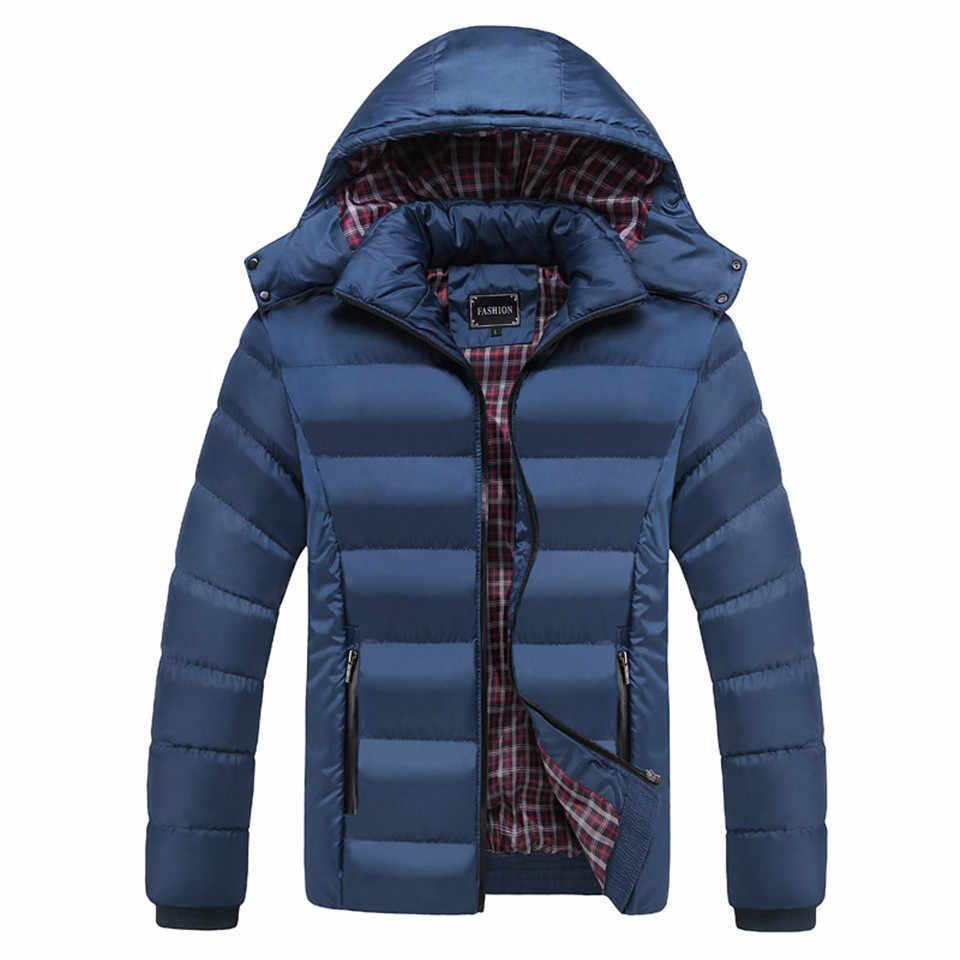 M-5XL フード付き襟男性の冬のジャケット 2019 新ファッション暖かいウールライナー男ジャケットとコート防風男性パーカー Casaco