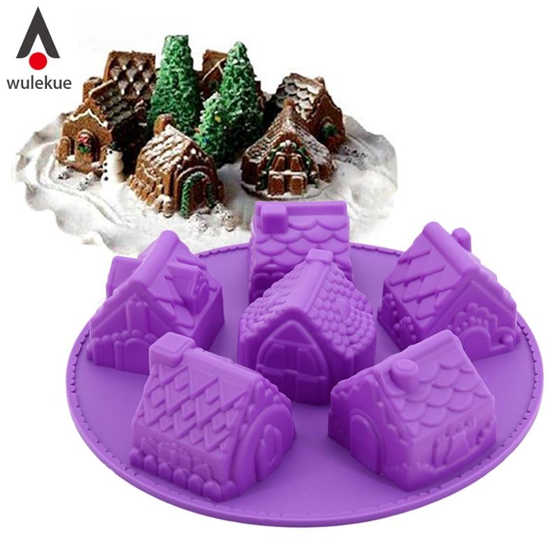 Aliexpress Com Buy Wulekue Silicone 3d Christmas