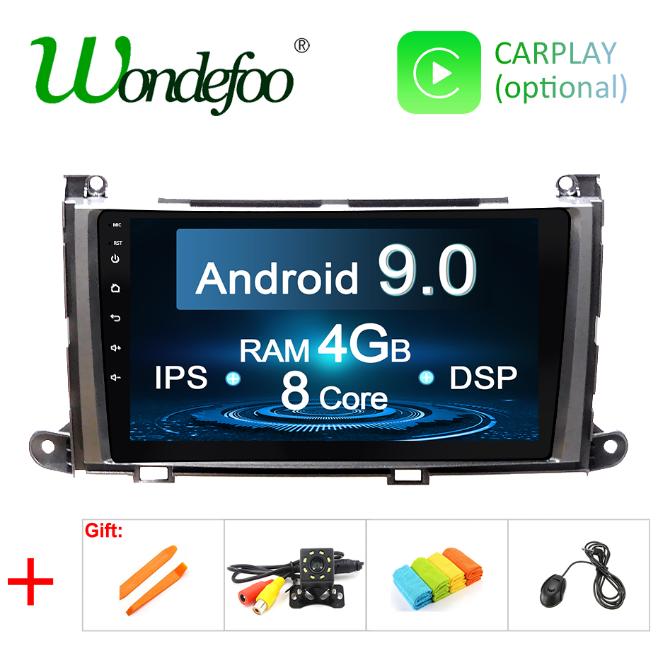 Android 9.0 IPS screen 4G RAM Car GPS for Toyota Sienna navigation stereo touch screen AUDIO receiver NO DVD player