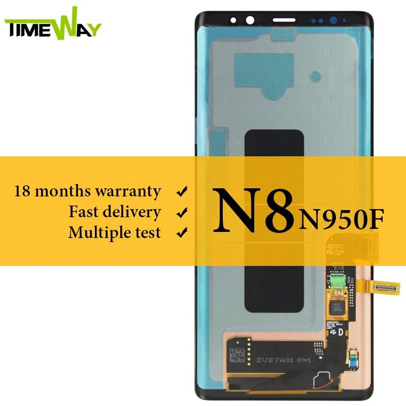 Affichage à cristaux liquides de catégorie pour Samsung Note 8 N9500 N950F affichage à cristaux liquides Super AMOLED avec numériseur décran tactile pour lassemblage de Samsung N9500 N950F