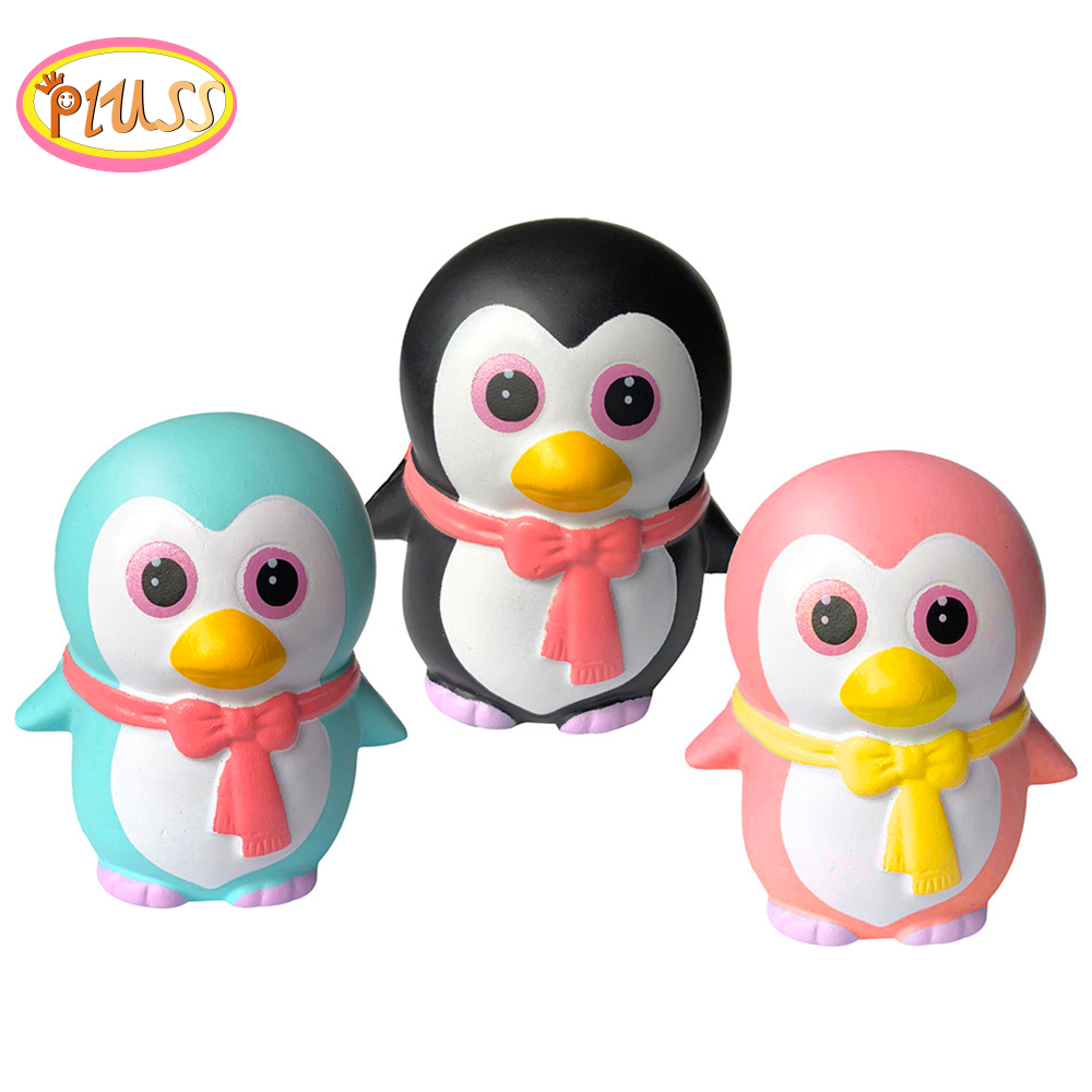 Skuishy Slow Rising Cute Squeeze Penguins Scented Stress Relief Toy Squishy Squish Decompression Animals Toys