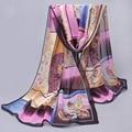 Chiffon de seda cachecol 2017 cachecol feminino verão e outono todos os coincidir com cachecol projeto longo ar condicionado cape lenço de seda cachecóis xale