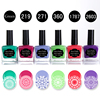 BORN PRETTY 6 Bottles 15ml Candy Colors Nail Stamping Polish Green Red Purple Manicure Nail Art