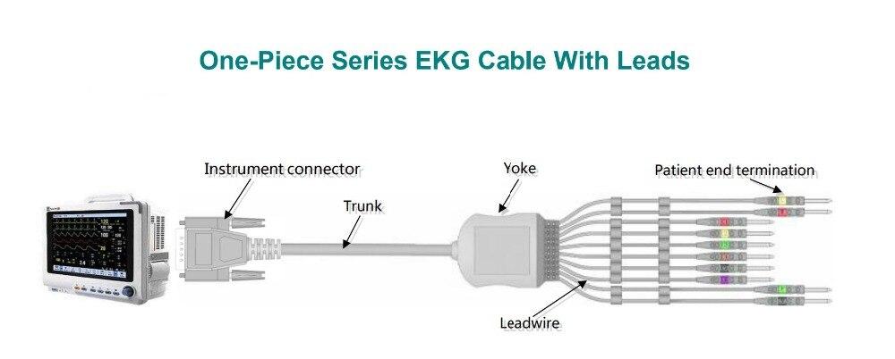 eli100 eli20 ecg ekg cabo com leadwires