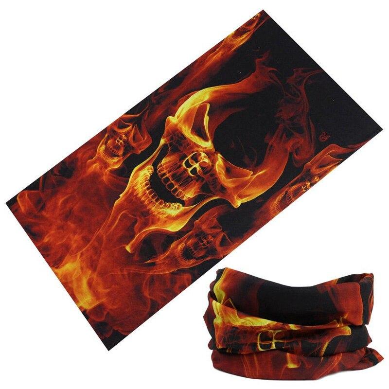 Skull Bandana Stretchable Tubular Bandana Face Mask Cap Neck Tube Multifunctional Scarf Men Magic skull headwear hood 60