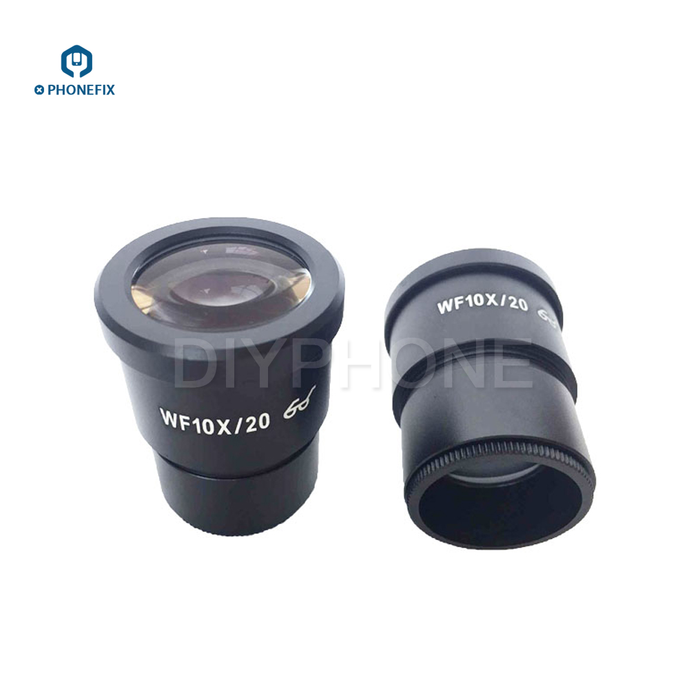 PHONEFIX A Pair Of 10X 20X Trinocular Microscope Eyepieces WF10X/20 WF20X/10 22mm Wide Field Of View 30mm Mounting SizePHONEFIX A Pair Of 10X 20X Trinocular Microscope Eyepieces WF10X/20 WF20X/10 22mm Wide Field Of View 30mm Mounting Size