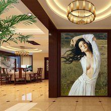 Beauty Figure mural wallpaper HD pattern fashion and elegant art form decor home wall background hallway living room screen