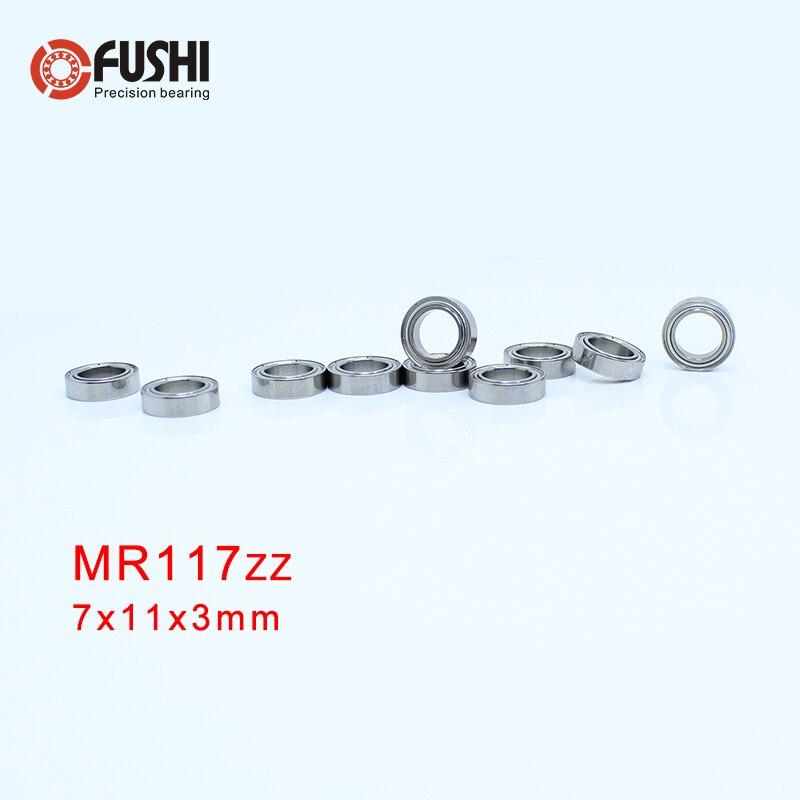 MR117zz Bearing 7*11*3 Mm ( 10 PCS ) ABEC-5 Miniature MR117 Z ZZ High Precision MR117Z Ball Bearings