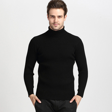 Fashion Turtleneck Sweater Men Spring Autumn Elasticity Pullover Turtle Neck Long Sleeve Solid Colors Sweater Casual Classic Man