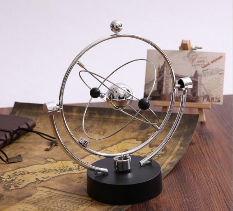 Newton's Cradle Perpetual Instrument Ball Model of Magnetic Bodies Orbit Earth Furnishing Articles Household Adornment Ornament