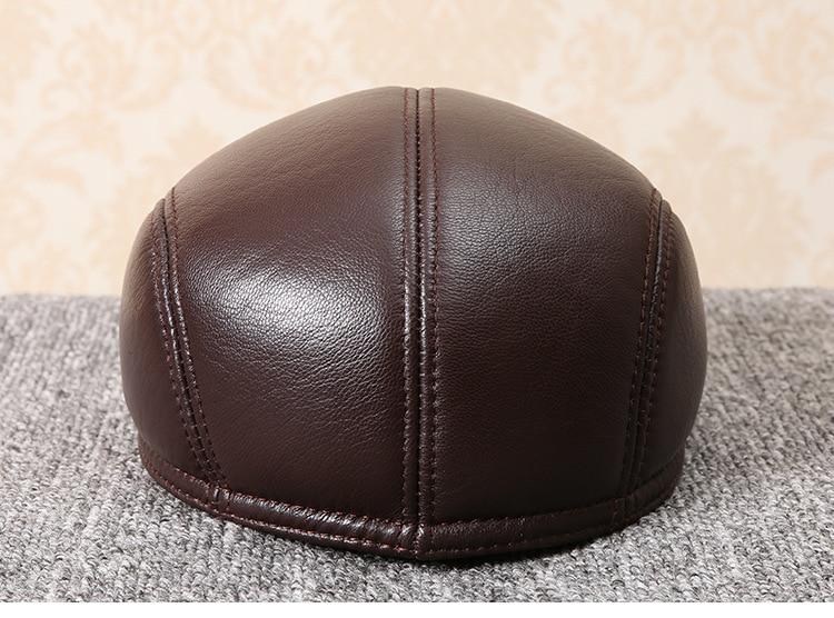 men natural Sheepskin beret (13)
