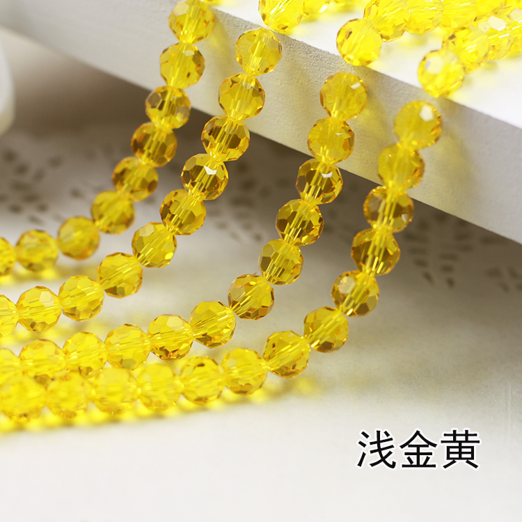 Wholesale~Citrine Color 5000# Crystal Glass Beads Loose Round Stones Spacer for Jewelry Garment.4mm 6mm 8mm 10mm