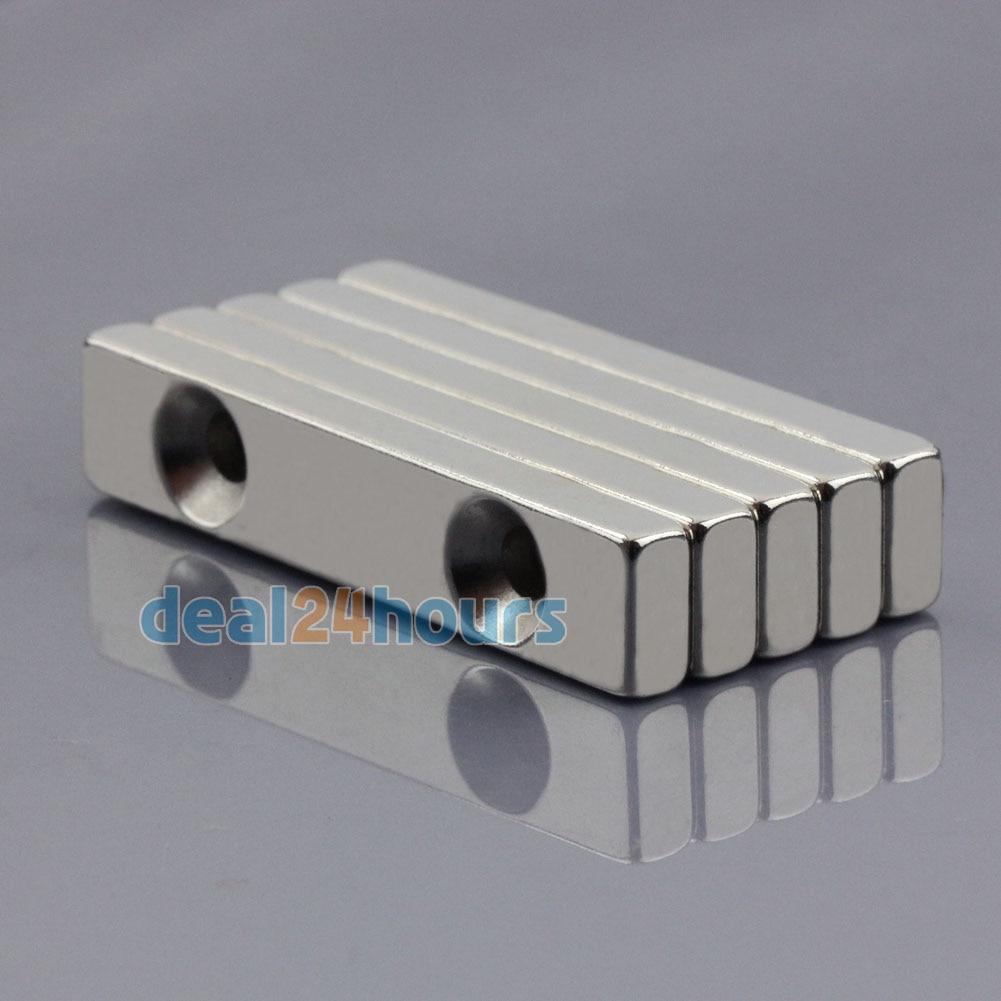 5pcs Super Strong Block Magnets 20mm x 10mm x 4mm Rare Earth Neodymium N50