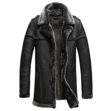 Мужская Самая Толстая Шуба Коммерческая мода Гарантированная настоящая Овчина Мех Натуральная кожа замша Мужская одежда куртка