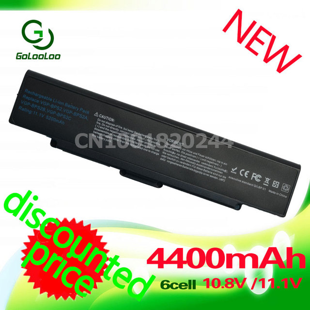 4400 мач черный аккумулятор для ноутбука sony vaio vgn-ar11 bps2 vgp-bps2 vgp-bps2c vgp-bps2a vgp-bpl2