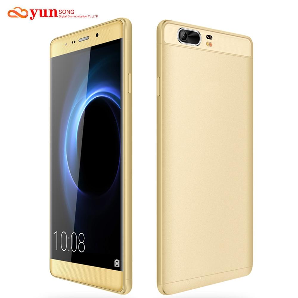 Цена за 2017 НОВЫЙ YUNSONG Мобильного Телефона S9 Плюс 16MP камера 6.0 дюймов смартфон MTK6580 Quad Core Dual Sim Мобильный Телефон GSM/WCDMA 3 Г Телефон