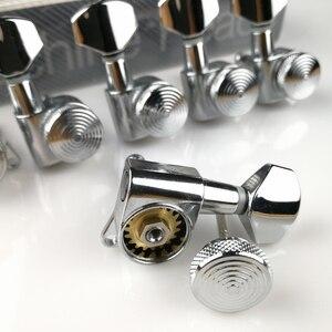 Image 3 - Sintonizadores de bloqueio de violão, cromado, novo afinador de cabeças para máquina de guitarra elétrica, JN 07SP trava de prata, pegos de ajuste (com embalagem)