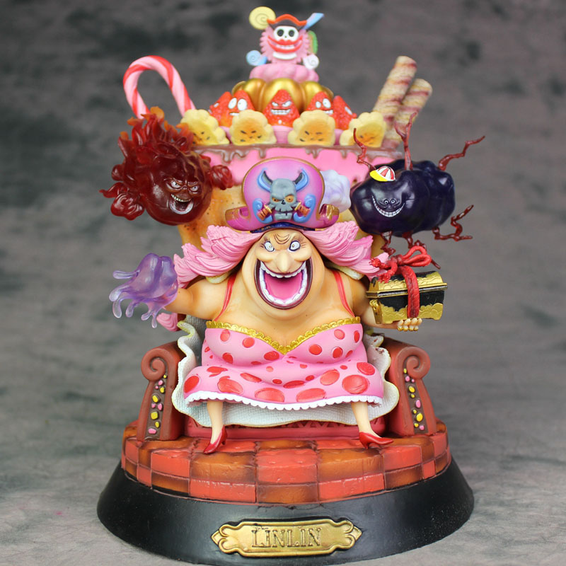 One Piece Big Mom Action Figure 1 8 scale Sitting Ver Four Emperors Charlotte Linlin PVC