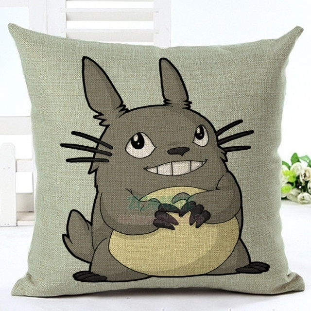 My Neighbor Totoro –  45*45cm Home Decorative Cute Totoro Cushion Cover – 8 Styles Available