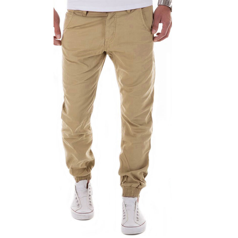 2017 autumn winter Men pants 100% cotton men workout pants solid color mens joggers men  ...
