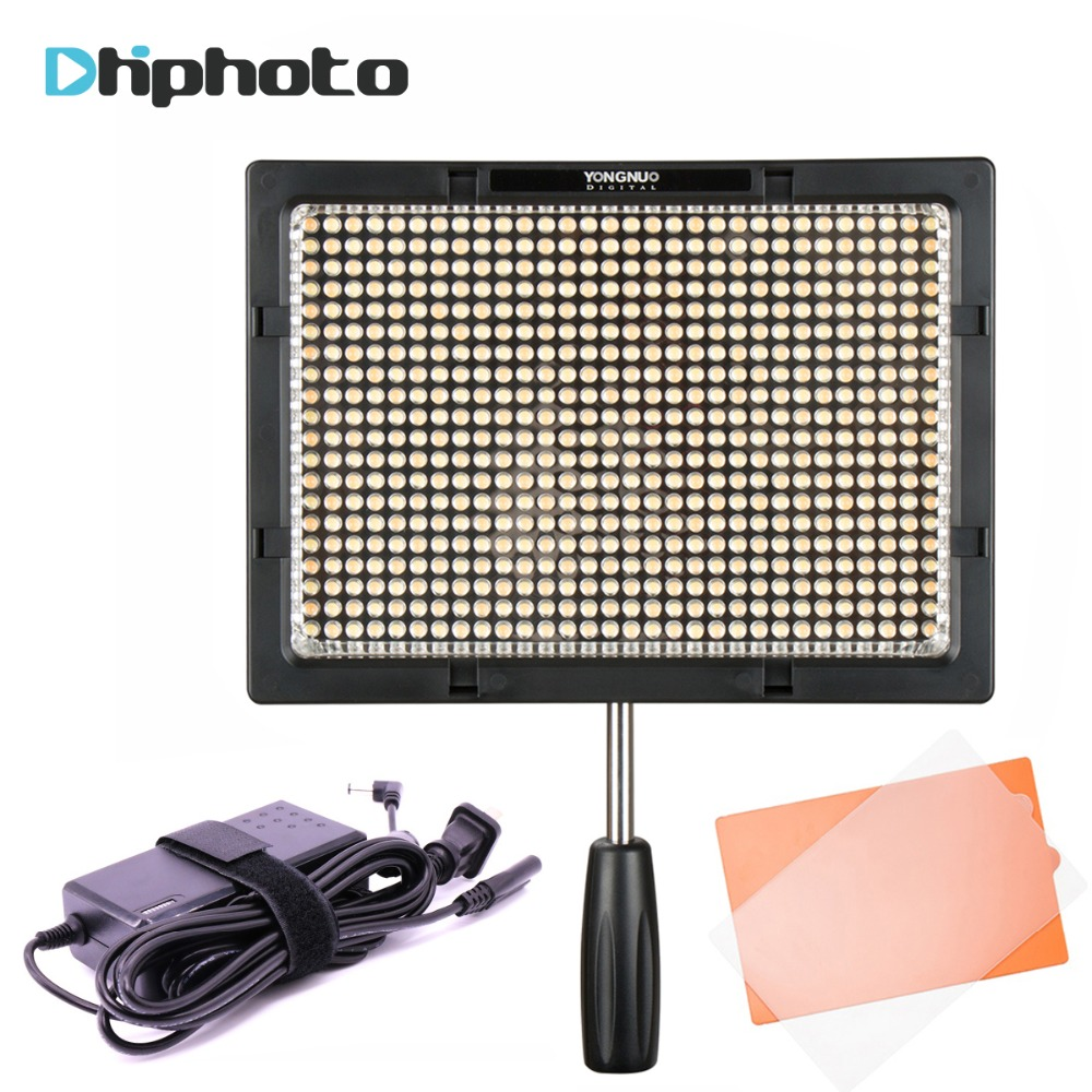 Updated Yongnuo YN600s LED Panel Video Light 3200K to 5500K with AC Power Adapter Photography Studio Light for Canon Pentax DSLR цена