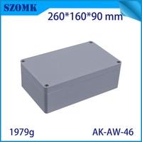 szomk die cast aluminum enclosure IP66 waterproof junction box for outdoor instrument project case pcb board design260X160X90MM