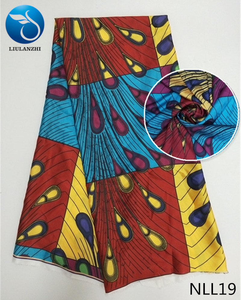 LIULANZHI Multicolor african satin fabric 2018 Latest design ankara satin fabric for sewing dress french satin NLL01 NLL19 in Fabric from Home Garden