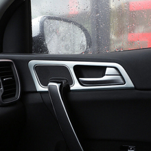 For KIA Sportage QL KX5 2016 2017 LHD ABS Matte Interior Door Handle bowl cover trim Car Styling Accessories 4pcs/set for kia sportage 4 ql 2016 2017 2018 car styling interior dashboard instrument panel screen frame cover trim decoration sticker