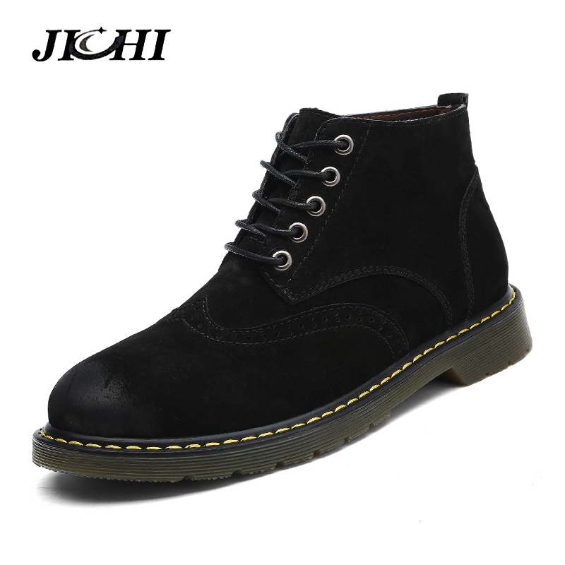 Brand Super Warm Men Boots Winter Leather Boots England Retro Ankle Boots for Men Winter Shoes Waterproof Rubber Snow Boots new men winter boots plush genuine leather men cowboy waterproof ankle shoes men snow boots warm waterproof rubber men boots